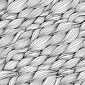 Vector Seamless  Hand-drawn Pattern With Waves.