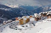Ski resort in the alps, Valmeinier