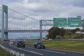 Belt Parkway near Verrazano Bridge in Brooklyn