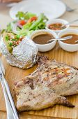Grilled Pork Chop Steak Set