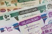 Afghanistan banknote background arabic