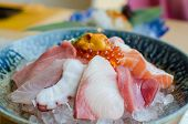 Sashimi Set Of Fresh Fish And Seafood