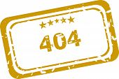 404 Error Rubber Stamp Over A White Background