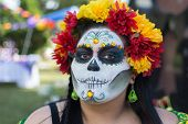 Unknown Woman At The 15Th Annual Day Of The Dead Festival