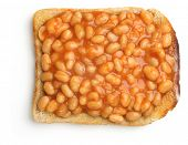 Baked beans on buttered toast.