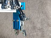 picture of plc  - Back view Aluminum pneumatic robot hand grip - JPG