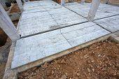 Concrete Floor Slab Panel In Building Construction Site