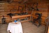 Craftsman's cabin workshop area