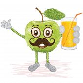 Green Apple Mustache