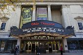 COLUMBUS, OHIO-OCTOBER 25, 2014:  The historic Ohio Theatre is a national landmark offering a variety of Broadway productions.