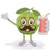Guava Fruit Mustache