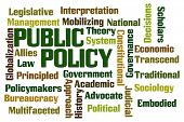 stock photo of policy  - Public Policy word cloud on white background - JPG