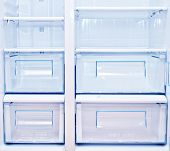 blank white refrigerator