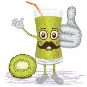 Kiwi Fruit Juice Mustache