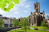 Summer view of St Nicholas' Church in Ghent