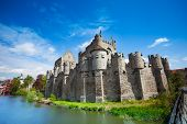 Gravensteen castle in Ghent, Belgium, Europe