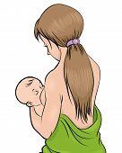 Mother Feeding Child