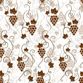 Seamless background pattern of grapes