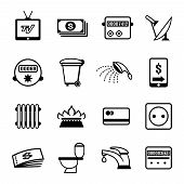 vector bills icons
