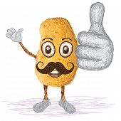 Potato Mustache
