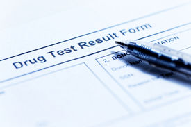 stock photo of toxic substance  - Drug test blank form with pen - JPG