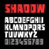 stock photo of alphabet  - Shadow font - JPG