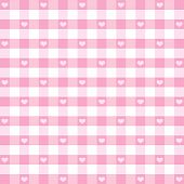 Seamless Hearts & Gingham