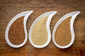 image of teardrop  - three tiny gluten free grains  - JPG