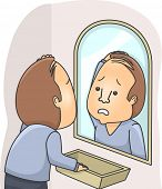 image of hairline  - Illustration of a Man Stressing Over His Falling out Hair - JPG