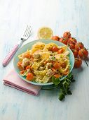 stock photo of swordfish  - pasta with swordfish ragout - JPG