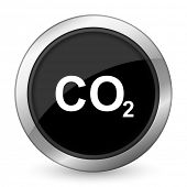 pic of carbon-dioxide  - carbon dioxide black icon co2 sign  - JPG