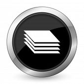 stock photo of gage  - layers black icon gages sign  - JPG
