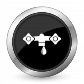pic of hydraulics  - water black icon hydraulics sign  - JPG