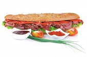 picture of french curves  - french sandwich over white plate - JPG