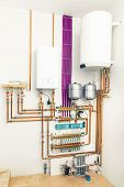 image of boiler  - independent heating system with boiler - JPG