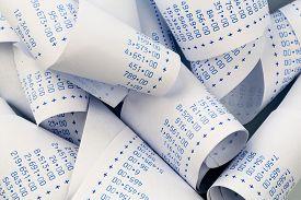 picture of calculator  - the stripes of a calculator - JPG
