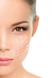 image of wrinkled face  - Face lift anti - JPG