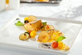 picture of halibut  - Salmon and Halibut Fillet with Citrus Mix - JPG