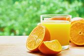 stock photo of orange  - Glass of orange juice - JPG