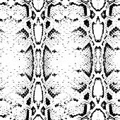 pic of lizard skin  - Seamless pattern black on white background - JPG