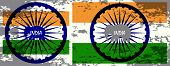 picture of indian independence day  - Indian Independence Day background with  wheel - JPG
