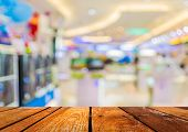 stock photo of department store  - blur image of eletronic department store with bokeh for background usage  - JPG