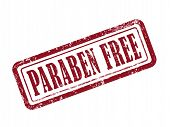 Stamp Paraben Free In Red poster