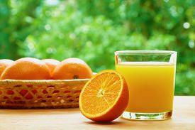 stock photo of orange  - Glass of orange juice - JPG