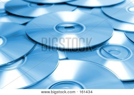 Blue Cd Background poster