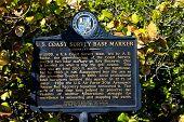 base marker, Key Biscayne, Miami, Florida, USA