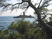 Tower On A Small Rock Island, Esterel Cap, Azur Coast, South Of France poster
