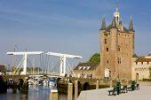 medieval gate and drawbridge, Zierikzee, Zeeland, Netherlands