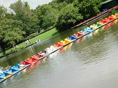 Pedaloes On The Lake