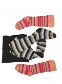 stock photo of knee-high socks  - sock isolated on white backgrounds - JPG